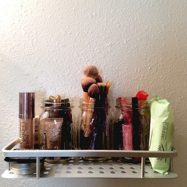 makeup shelf