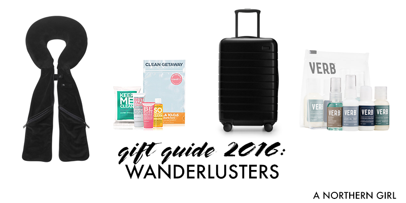 gift guide 2016: wanderlusters