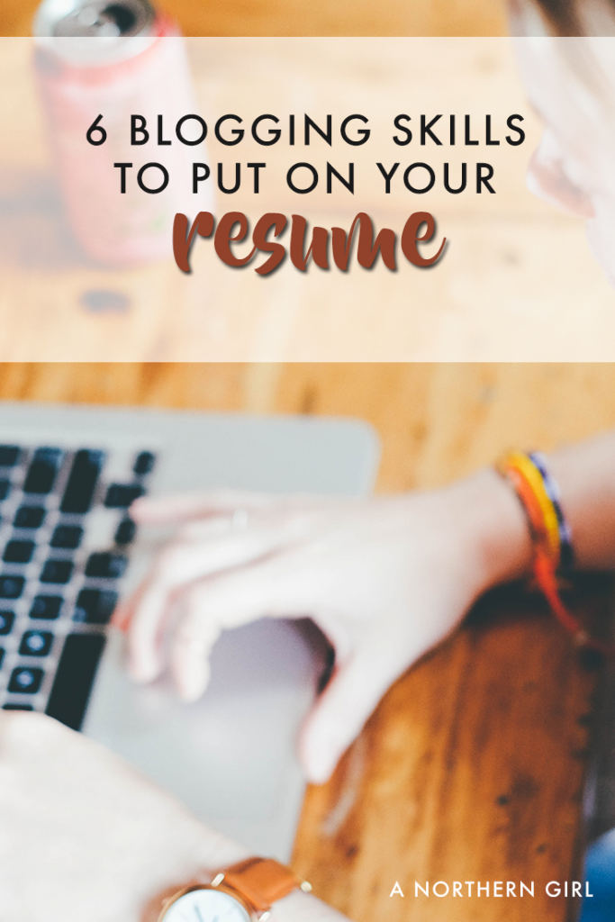 blog management skills to add to your resume