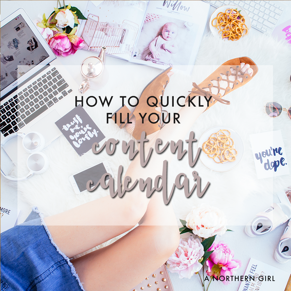 how to quickly fill your content calendarand get ahead on blog posts