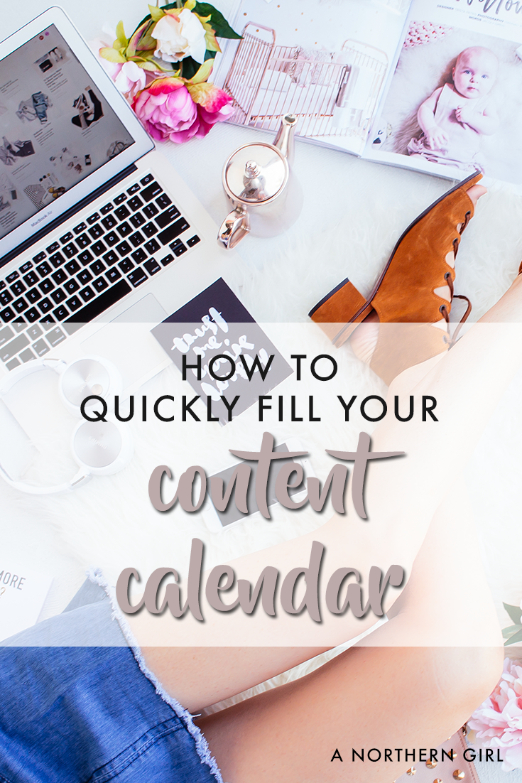 fill your blog content calendar