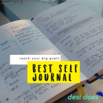 using Best Self Journal to reach your goals & giveaway