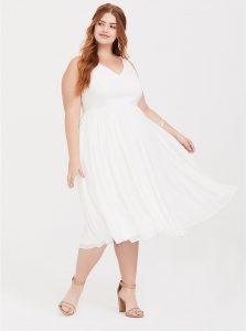 Torrid ponte to knit affordable wedding dress