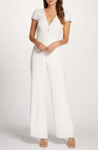 plus size lace bodice wedding jumpsuit