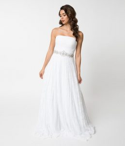 Unique Vintage plus size wedding dress