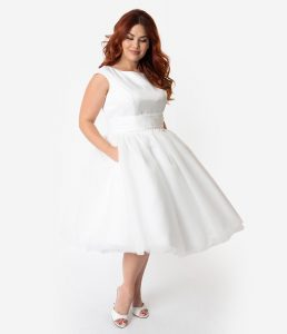 affordable Unique Vintage plus size wedding dress