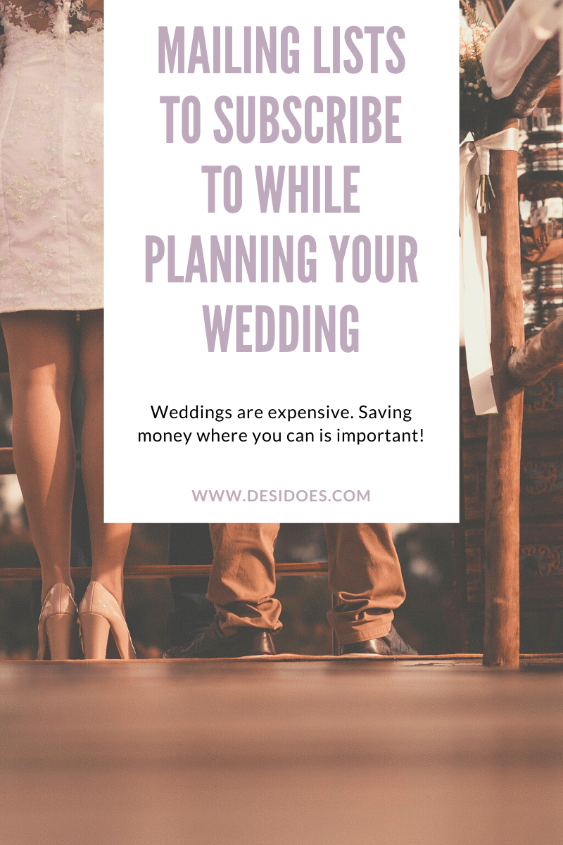 mailing lists to subscribe to while planning your wedding