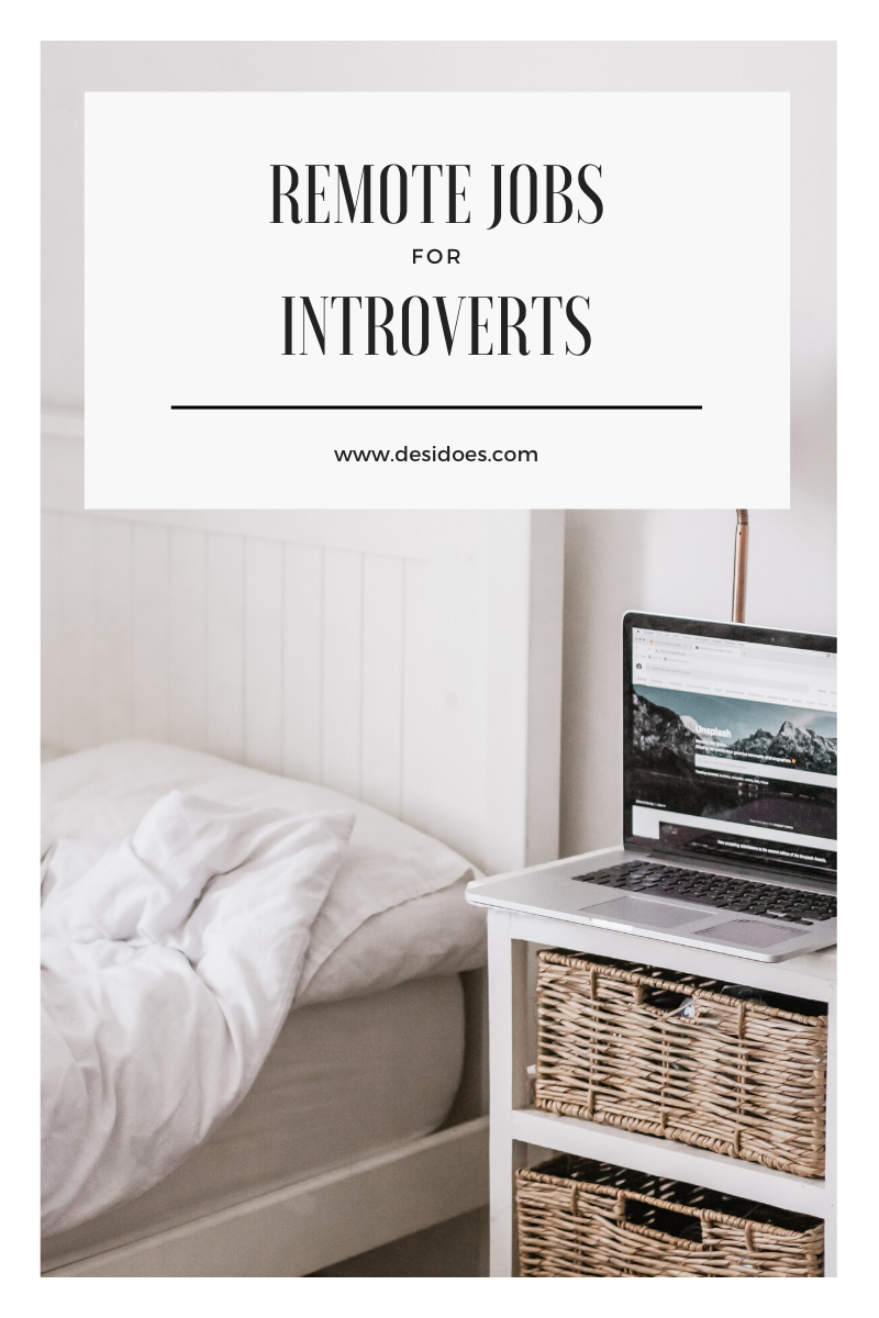 text on image: remote jobs for introverts